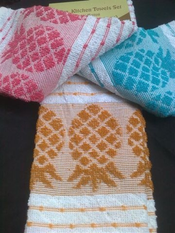 Yarn Dyed Jacquard Kitchen Towels